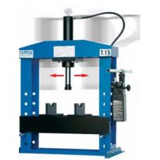 652B Пресс гидравлический, усилие 15т. настольный, ручной привод, подвижной цилиндр OMA (Италия)