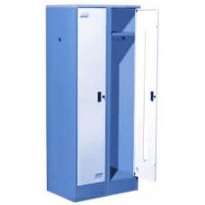 03.121 G5015Шкаф двухсекционный раздевальный Размеры 760х500х1821(синий)